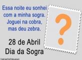 Dia da Sogra 28 de Abril