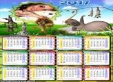 Calendário 2017 Madagascar Animais
