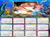 Calendário Desenho Princesa Sereia 2016