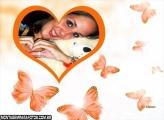 Corações e Borboletas do Amor