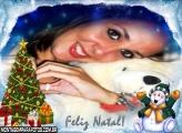 Feliz Natal Boneco Alegre