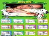 Calendário 2014 Snoopy