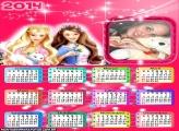 Calendário 2014 Barbie Butterfly
