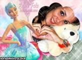Fada Brilhante Azul Bailarina