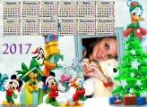 Calendário 2017 Natal Pato Donald