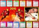 Calendário 2015 Homem de Ferro