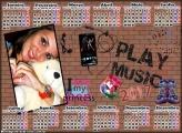 Calendário 2017 Play Music