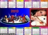 Calendário Desenho Marvel 2013