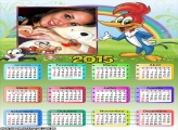 Calendário 2015 do Pica Pau