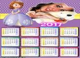 Calendário 2017 Sofia Princesa Sereia