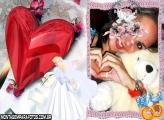 Noiva e Coração Vermelho