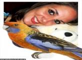 Papagaio Laranja com Azul
