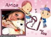 Moldura Amor I Love Desenho