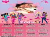 Calendário 2014 Barbie Amigas