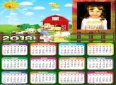 Calendário 2018 Fazenda Infantil