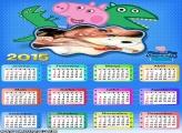 Calendário 2015 George Peppa