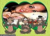 Moldura Macacos Engraçados