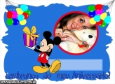 Convite Mickey Aniversário