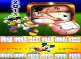 Calendário Mickey Futebol 2013