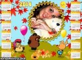 Calendário 2014 Porquinho