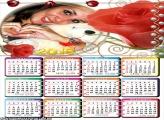 Calendário Rosa Vermelha 2016