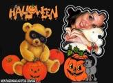 Moldura Ursinho Halloween