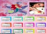 Calendário Sereia Ariel 2014