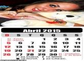 Calendário Abril 2015