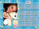 Calendário 2017 Bebê Infantil