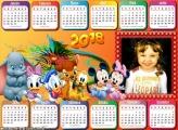 Calendário 2018 Horizontal Disney Baby