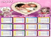 Calendário 2017 Jolie Coração Moldura