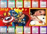 Calendário Personagens Marvel