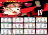 Calendário Cristo Redentor Flamenguista 2016