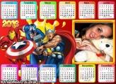 Calendário Personagens Marvel 2016 Horizontal