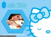 Moldura Hello Kitty Blue