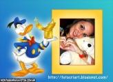 Moldura Ouro Pato Donald