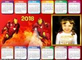Calendário 2018 Horizontal Homem de Ferro