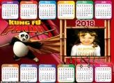 Calendário 2018 Horizontal Kung Fu Panda