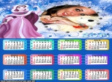 Calendário Princesa na Neve