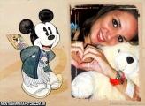 Moldura Mickey Oriental