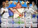 Calendário 2017 Real Madri Time Futebol