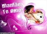 Coração Lilás Dia das Mães