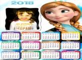 Calendário 2018 Princesa Anna Frozen