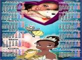 Calendário 2017 Princesa Diana e Sapo