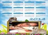 Calendário 2014 Coelho e Gato