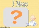 Moldura 3 Meses Meninos