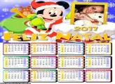 Calendário 2017 Feliz Natal do Mickey Noel