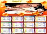 Calendário 2017 Goku Dragon Boll Z