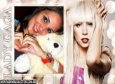 Lady Gaga Loira FotoMoldura