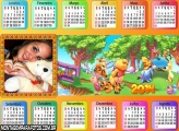 Calendário Horizontal Pooh 2014